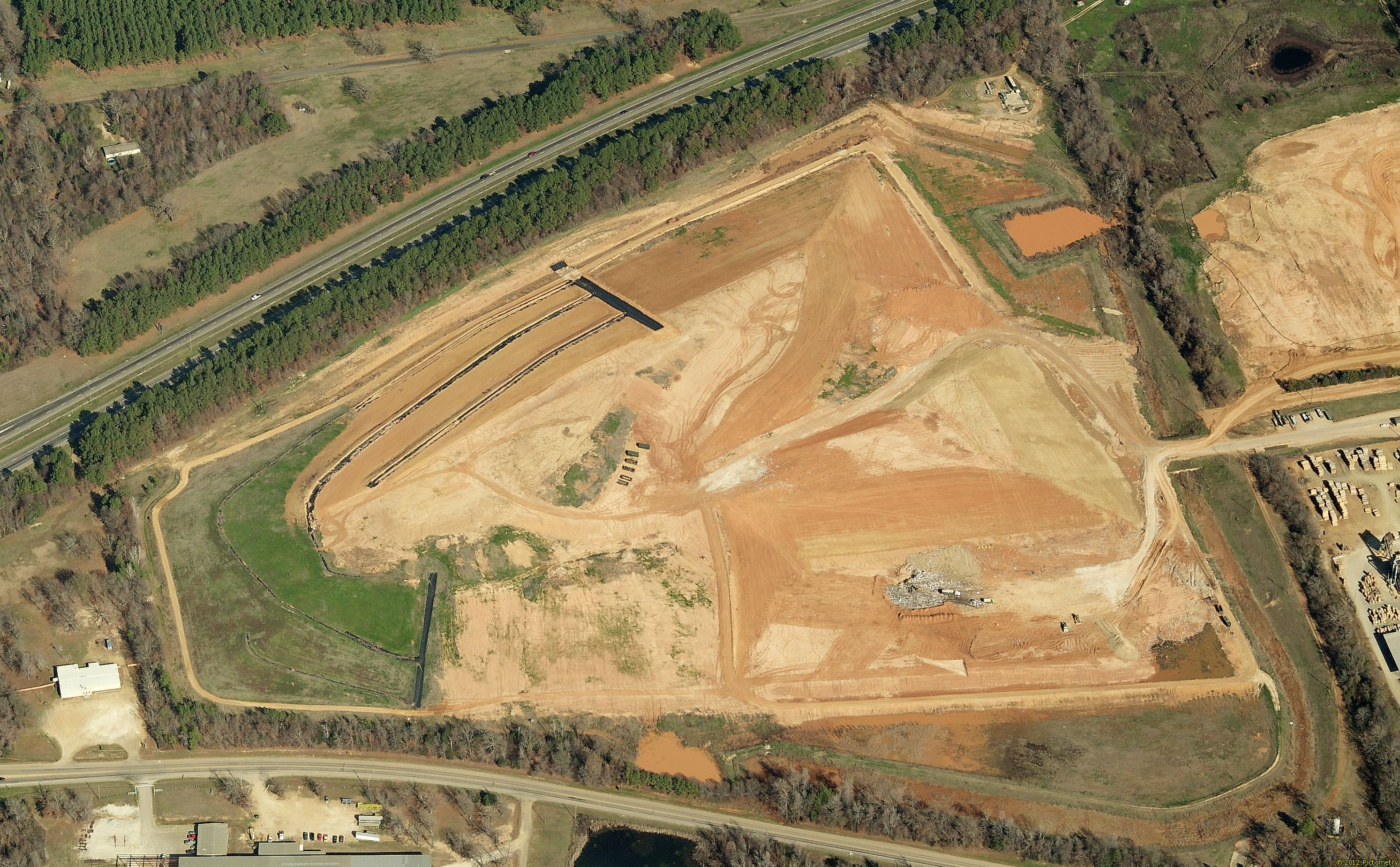 Aerial view of the new landfill