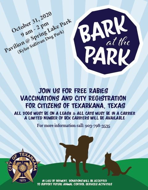 Bark at the Park 2020